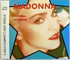 "MADONNA - 2 TRACKS SINGLE CD ""HOLIDAY / EVERYBODY"""