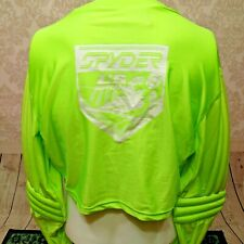 Vintage Spyder US Ski Team Padded Arms Cropped Base Layer Shirt Mens XL Sample