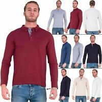 Brave Soul Lincoln T Shirt Mens Polo Long Sleeve Cotton Pique Casual Top