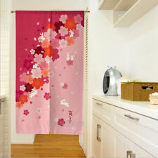 NEW Japanese Noren Tapestry Window Decorate Panel Room Divider Door Curtain Pink