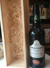 Graham's 1991 Vintage Port Late Bottled 1997 Full Sealed Boxed 26 Years Old