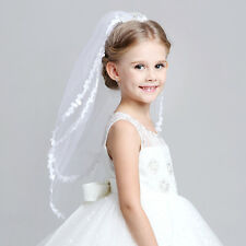 1st First Holy Communion Flowergirl Diamante Crown Combs Hair Mantilla Veil
