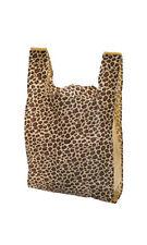 "500 Bags New Medium Leopard Print Plastic T-Shirt Bags 11 1/2"" x 6"" x 21 Inch"