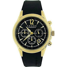 CRNP CR8011-04 Cross Agency Gents Chronograph Rubber Strap Watch
