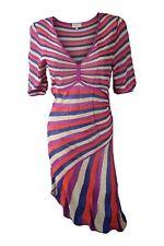*KAREN MILLEN* MULTI COLOURED ASYMMETRIC DRESS AND CARDIGAN SET (4)