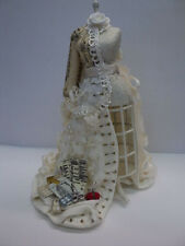 DOLLHOUSE MANNEQUIN W/ WEDDING DRESS IN PROGRESS/ HAND MADE