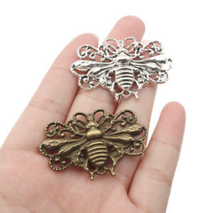 5X Antique Silver Honeybee Pendant For Necklace Jewelry Making Findings Gifts