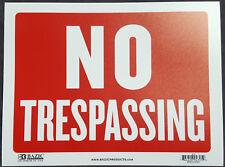 Warning Trespassers Will Be Eaten Sign METAL security doberman trespassing SBD17