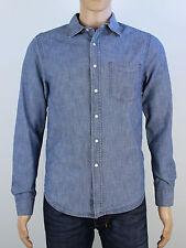 H&M mens blue long sleeve shirt size small (M5000)