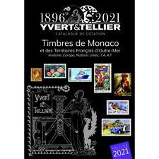 Catalogue de cotation timbres de Monaco et Tom 2021 Yvert et Tellier.