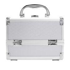 Pro Aluminum 6Tray Cosmetic Train Case Makeup Organizer Jewelry Box w/ MIrror