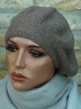 Mütze Strickmütze Wollmütze Wollhut Baskenmütze Fugger Feinstrick mit Kaschmir