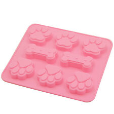 Bone & Paws Pet Dog Paw Silicone Soap mold Candy Chocolate Fondant Tray ICE Cube