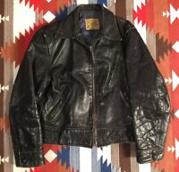 Vintage Grais Front Quarter Horsehide Leather Jacket 40's/50's Small Motorcycle