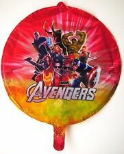 """The Avengers round foil red balloon 18"""" (45cm) birthday party AU SELLER!"""