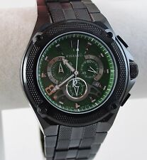 Renato Men's Cougar Watch, Blk IP Green Dia;, Swiss Ronda 5040D Chrono HandMade