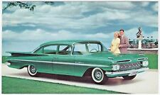 1959 Chevrolet BEL AIR 4-Door SEDAN Original NOS Dealer Promo Vintage Postcard ^