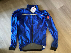Castelli Superleggera Men's Blue Cycling Jacket - Size Small - New With Tags