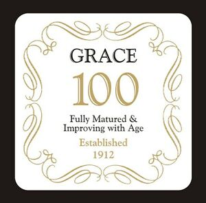 PERSONALISED 100 / 100th BIRTHDAY COASTER - BORN IN 1919 - ANY NAME - GIFT