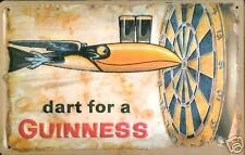 "Dart for a Guinness embossed steel sign 12"" x 8""  (hi)"