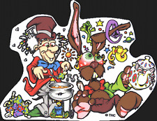 15523 Mad Hatter Rabbit Mushroom Tea Sticker Decal Weed Humor Alice Wonderland