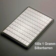 100x 1 Gramm Silberbarren - Silbertafel (ESG Valcambi 100g Silber Anlage Barren)