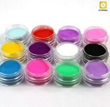Juego De Manicura De Uñas Acrílicas En Polvo De 12 Frascos De Diferentes Colores