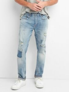 GAP Cone Denim Men's Destructed Jeans in Skinny Fit with GapFlex RARE NEW 32x30