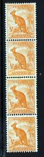 AUSTRALIA 1942 'Roo ½d.Orange COIL STRIP WITH JOIN Wmk 15 Perf 15x14 SG 179b MNH