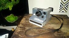 Vintage The Button Polaroid Land Camera with Strap Untested Beige Black