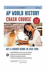 AP World History Crash Course Book + Online (Advanced Placement... Free Shipping