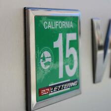 "Yearly  State Registration Sticker Frame Emblem Set 3.25""x 2.25"""