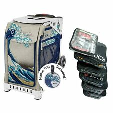 Zuca GREAT WAVE Sport Insert Bag with White Frame and Packing Pouch Set