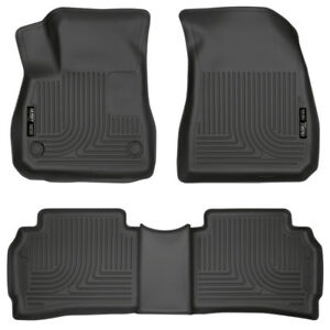2016-2019 Chevrolet Malibu Husky Weatherbeater Black Front & 2nd Row Liners