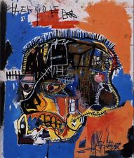 "Jean Michel Basquiat ""Scull"" Oil Painting Modern on Canvas large Wall Picture"