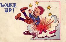 1908 WAKE UP! exploding firecrackers