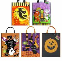 HALLOWEEN TOTE BAGS - Childrens Kids Gift Party Loot Trick Treats Sweets Candy