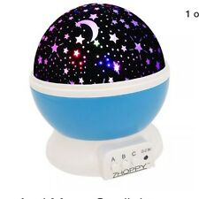 Star And Moon Starlight Projector Night Light Bedside Lamp Kid Room Home Decor