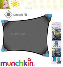 Munchkin Stretch to fit Car Sun Shade Push Lock Suction Mesh Fabric Sun Shade