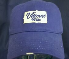 Ultimat Vodka Distressed Blue with White Logo Hat Cap