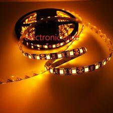 5M Black PCB 5050 300led Strip Light Yellow DIY tape lamp Waterproof IP65 DC12V