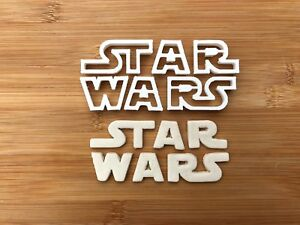 Star Wars Logo cookie cutter fondant cake decoration UK Seller