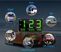 GPS HUD Numérique Voiture Compteur de vitesse Projecteur Plein Écran 120KM/h   &