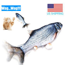 Fish Toy For Cat Realistic Plush Simulation Electric Motion Wag Usb Charging Us