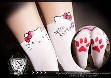japan LOLITA cartoon Hello kitty dream layered-look paw print pantyhose【J1B009】W