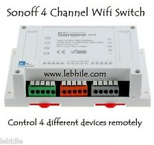 Sonoff 4 CH Channel Wifi Smart Switch Home Automation Android iOS Alexa & Google