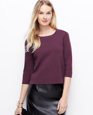 Ann Taylor - Woman's XL TALL Chianti Structures Back-Zip Sweater $89.50 (T5)
