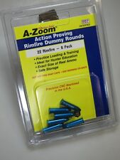 22 LR A-ZOOM  Pack of 6 Solid Anozidized Aluminum - Dummy Action Training Ammo