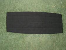 Vintage Cummerbund Mens Pleated Vintage Sash BLACK by AKCO Pleated Adjustable