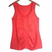 Neon Buddha Orange Rouched Front Cotton Tank Top Activewear Women's Small